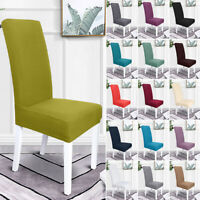 1/2/4/6PCS Stretch Chair Covers Seat Cover Elastic Slipcovers Dinning Room Decor