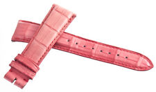 NEW Michele Womens 20mm Pink Alligator Leather Watch Band Strap