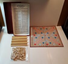 """Vintage """"SCRABBLE GAME SELRIGHT"""" Selchow & Righter Co 1948 Family Board Game"""