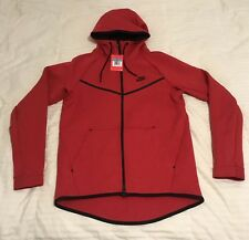 Nike Tech Fleece Windrunner Hoodie SZ Medium M University Red Black 805144-654