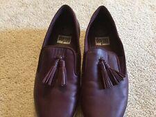 FitFlop Women's Tassel Superskate Leather Burgundy LoaferUS Shoe Size 6.5