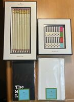 NEW! Kate Spade 4 Piece Stationary Bundle Lot Pencils Erasers Notebooks Notepads
