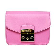5a50c45fbc38 Woman bag Furla Metropolis Crossbody pink leather shoulder orchidea d 920313