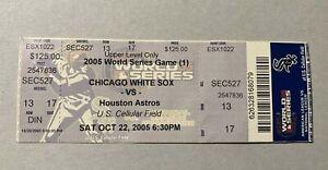 World Series Ticket Chicago White Sox vs Houston Astros Oct 22, 2005