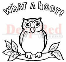 Deep Red Rubber Cling Stamp Wise Ole Owl What a Hoot
