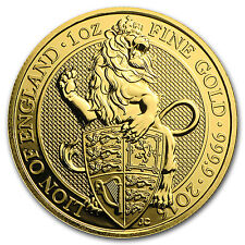 2016 Great Britain 1 oz Gold Queen's Beasts (The Lion) - SKU #96671