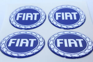 NEW 4pcs Silicone Stickers for Wheel Centre Cap Hubs for FIAT - 55mm
