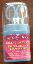 Donna Michelle 4 Piece Manicure Set - Nail Clipper, File,Cuticle Pusher,Scissors