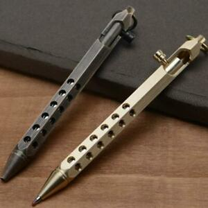 EDC Gear Tactical Ballpoint Brass Pen Hexagonal Prism Design Office Stationery