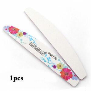 2Pcs Professional Acrylic Nail File 100/180 Grit Zebra Sanding Files Kit Tool