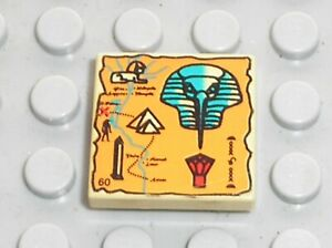 LEGO Egypte Tan Tile 2x2 Map Orange Hieroglyphs 60 Ref 3068px20 Set 5938 5978