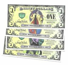 "Disney Dollar , 2013 ""D"" Series,  Matching Set - 5 Digit Series  MINT"
