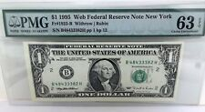 "Add a  RARE *Web Note* PMG ""63"" to your Collection Choice UNC. 1995 - FREE SHIP"