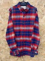 VTG Mens WEATHERPROOF  Checked Button Down Flannel Shirt Size Small S