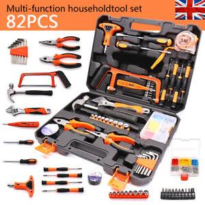 82PCS Hardware Household Tool Kit Set Garage Car Repair Daily Maintenance Box