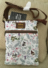 NWT LOUNGEFLY DISNEY BAMBI & FRIENDS CROSSBODY THUMPER OWL FLORAL SOLD OUT RARE