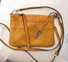 ABRO Leather Woven Crossbody Bag Made In Romania