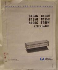 HP ATTENUATOR 8494/95/96G/94/95/96H OPERATING MANUAL