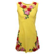 5683AC vestito bimba GIRL QUIS QUIS cotton yellow sleeveless kids