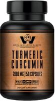 TUMERIC CURCUMIN w/10mg Bioperine MAX STRENGTH 2000 mg - by OPEN WORLD ORGANICS