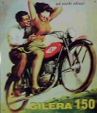 Älteres Blechschild Oldtimer Motorrad Gilera 150 Werbung Reklame gebraucht 1x da