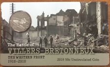 2018 50 cent UNC The Battle of VILLERS-BRETONNEUX