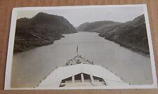 Postcard Battleship HMS Nelson Navigating The  Panama Canal RPPC  1930's