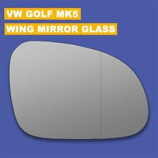 For VW Golf mk5 wing mirror glass 03-08 Right Driver side Aspherical Blind Spot