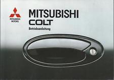 MITSUBISHI COLT 4 Betriebsanleitung 1993 Bedienungsanleitung  Handbuch BA