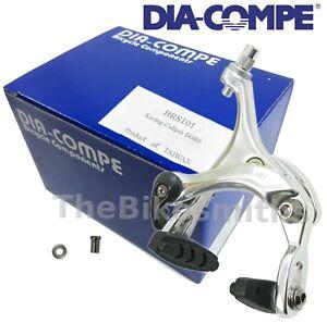 Dia Compe BRS101 Rear Silver Caliper Road Bike Brake 49-57mm Reach Dual Pivot