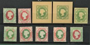 HELIGOLAND STAMPS SELECTION ON STOCK CARD  (K2)