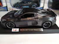 Maisto 1:18 Scale Diecast Model Car - 2020 Chevrolet Corvette Stingray Grey NIB