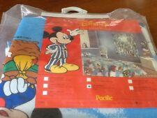 NEW! VTG Mickey Mouse & Friends Walt Disney Blue Curtain/Drapes Hot Air Balloon