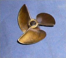 "PROPELLER X436/3 rc model boat 3 blade 35mm bronze for  3/16""  4.75mm or 4mm"