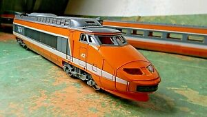 Jouef - 3 Pcs Set - TGV High Speed Train Unpowered Engine & Two Cars Rd# 42 - HO