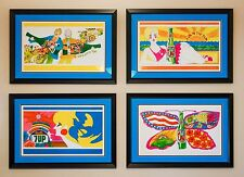 "1969, (4) 34""x21"" 7Up UnCola ""Fallpaper"" #7Upvintage Posters #7Up"