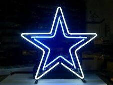 "Dallas Cowboys Neon Sign 17""x14"" Bar Pub Beer Light Lamp Gift Artwork Glass"