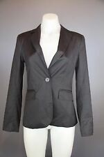 womens Cue Blazer jacket size 8  lined corporate jacket as new  deep grey black