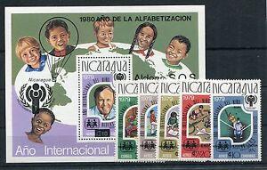 Nicaragua 2154/58 Block 133 postfrisch / ua. Eisenbahn ...................1/2256