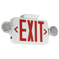 NEW Hubbell Compass CCRRC Led Combination RED WHITE Exit/Emergency Light