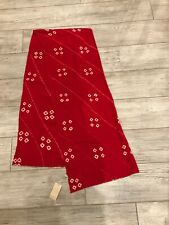 Free & Kashmere Scarf red and white Rectangle Fring Pashmina 100% cashmere