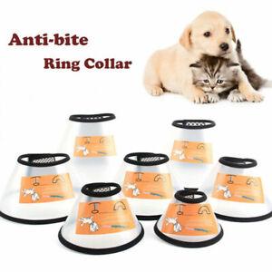 Medical Pet Cat Dog Cone Collar Adjustable Anti-lick of Wound Plastic E-Collar