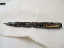 Vintage Packard Fountain Pen & Pencil Combo 14K gold plate Nib green black grey