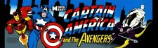 Captain America and The Avengers Arcade Marquee – 27″ x 8″