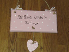 PERSONALISED Door name Plaque, handmade, shabby chic