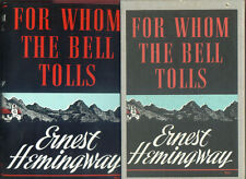 FOR WHOM THE BELL TOLLS ERNEST HEMINGWAY SCRIBNERS FIRST EDITION LIBRARY