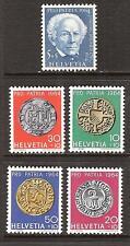 SWITZERLAND # B334-8 MNH COPPER COIN ZURICH