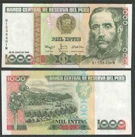 26.6.1987 PERU 50 INTIS BANKNOTE Cat CRISP UNCIRCULATED CONDITION P-131b No