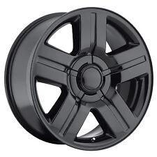 "NEW (4) 24"" Texas Special Rims Set Chevy GM 1500 Silverado Gloss Black Wheels"