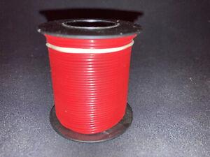 "20 GA. Solid Strand Type ""E"" Teflon M16878/4-20 Red 100 ft. spool"